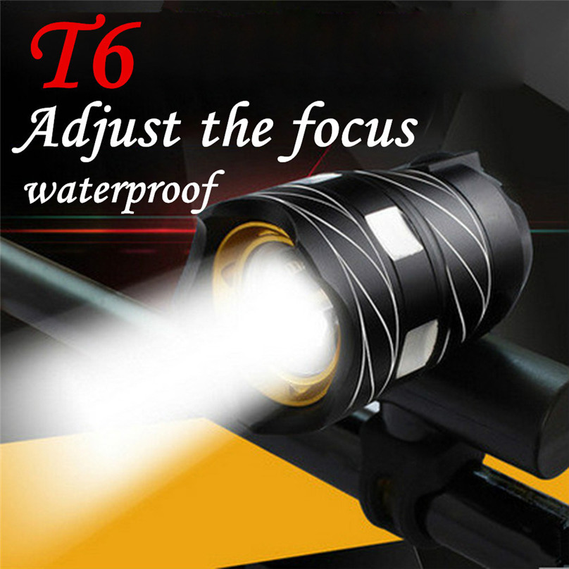T6 LED Bicycle Headlight USB Rechargeable Bike Light Front MTB Bike Headlamp 3 Modes Bicycle Lamp Torch Flashlight #F30ST11