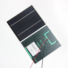 BUHESHUI 12V 2W Polycrystalline Mini Solar Panel Module Solar Cell With Cable Wire For Charger Battery DIY System 136×110*3MM