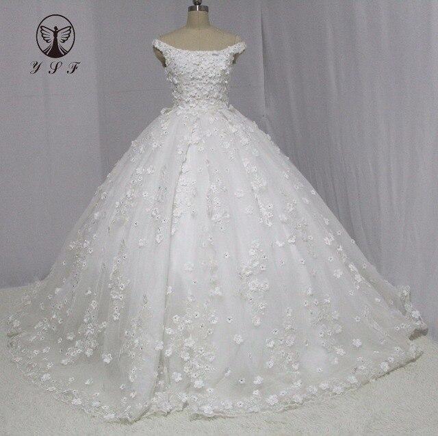 Vintage Robe De Mariee Platz Appliqued Spitze Perlen Blumen Plissee ...