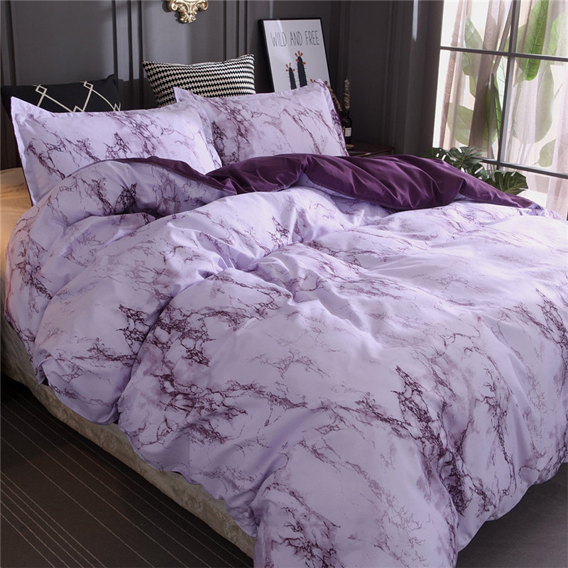 Image 3 - Simple Marble Bedding Duvet Cover Set Quilt Cover Twin King Size With Pillow Case Polyester Microfiber Fabric Luxury Soft Duvet-in Bedding Sets from Home & Garden