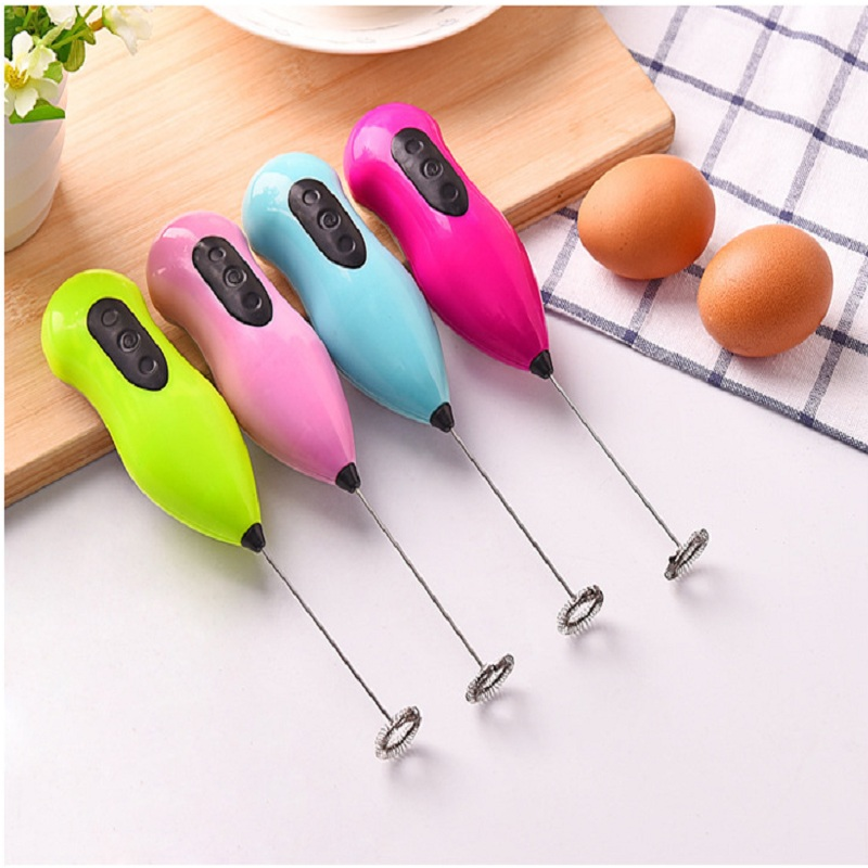 Milk Drink Coffee Whisk Mixer Electric Egg Beater Frother Foamer Mini Handle Stirrer Practical Kitchen accessories Cooking Tool in Egg Beaters from Home Garden