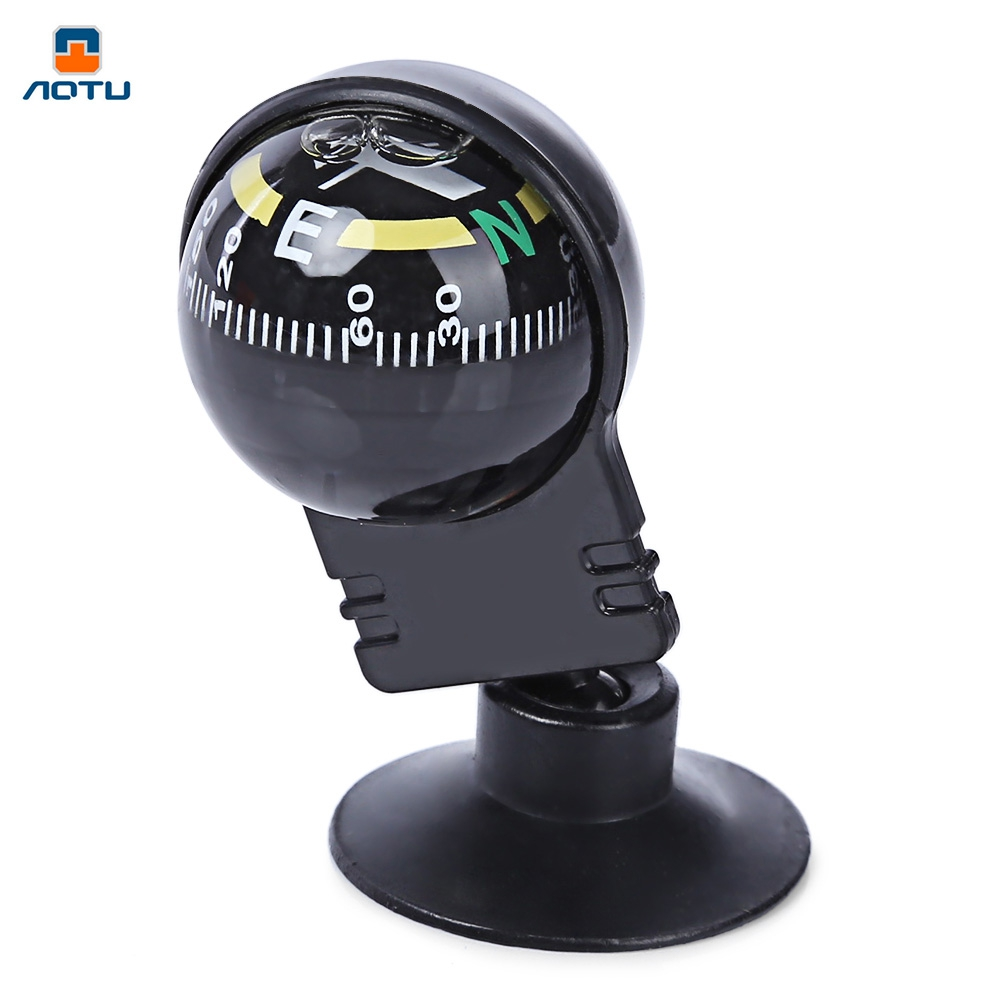 1Pc 55x30x30mm 360 degree rotation Waterproof Vehicle Navigation Ball Shaped Car Compass Ball with Suction Cup