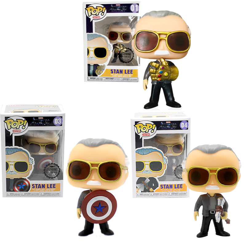 FUNKO POP New Marvel Comics Avengers Endgame Stan Lee American Captain Thor Action Figure model toys for Children Christmas gift máy xay sinh tố của đức