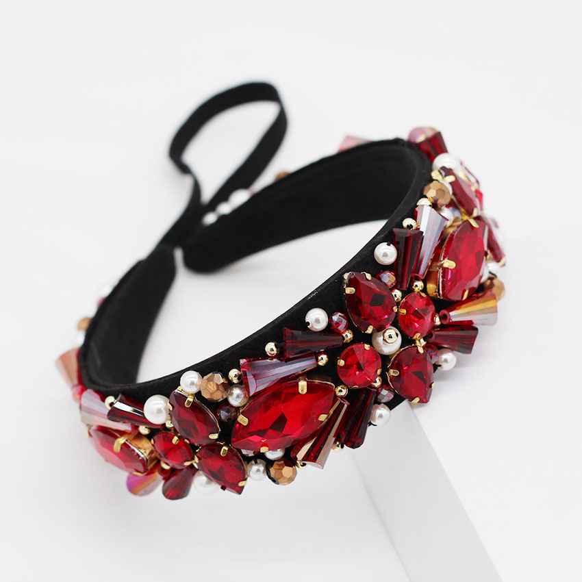 New hand-stitched Baroque crystal small particles geometric headband dance party cocktail personality headband 972