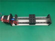 Высокой точности с чпу gx 80*50 1204 ballscrew раздвижной стол 1500 мм полезный ход + 1 шт. nema 23 stepper motor axis linear motion