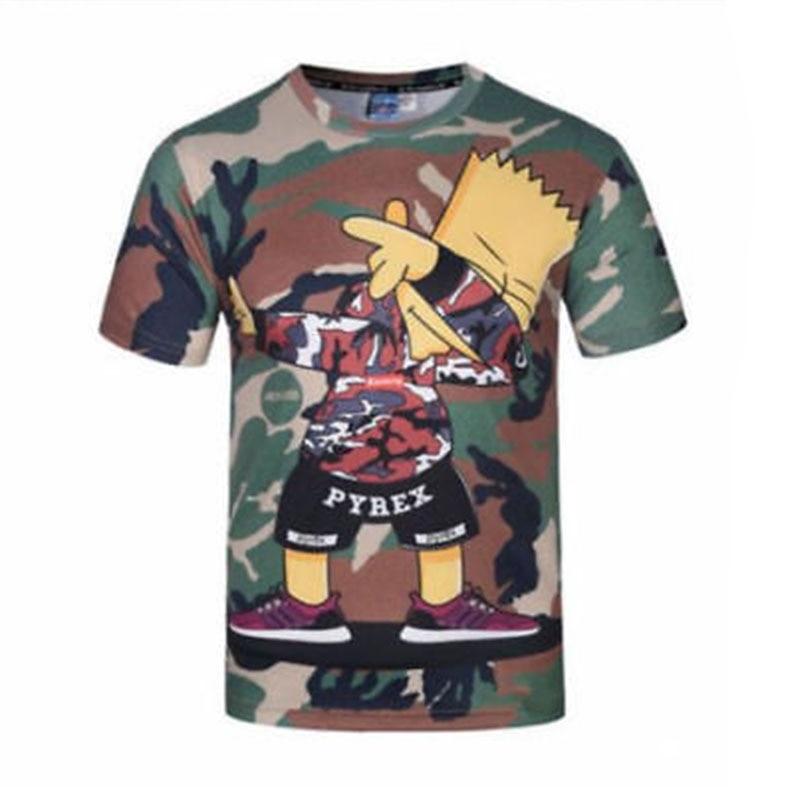 심슨 T 셔츠 여름 패션 새로운 남자의 T - 셔츠 3D - 남성 의류