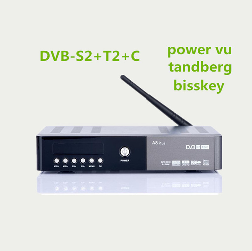 US $116 0 |android satellite receiver android A8 plus DVB S2 t2 C HD 4K H   265 support power vu cccam oscam Europe Arbia French channels-in Set-top