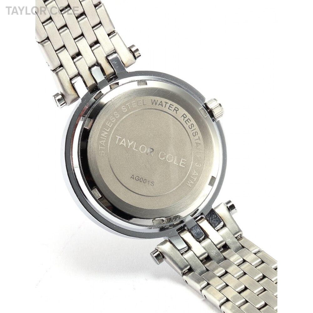 6d61ab151cc COLE TAYLOR Mulheres Vestido Relógios Relogio feminino Prata Strass  Horloges Vrouwen Cinta de Aço Inoxidável Relógio de Quartzo TC003 em Mulheres  Relógios ...