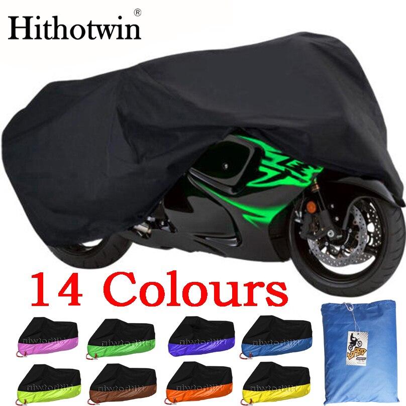 Cubierta impermeable de la motocicleta de 14 colores M-4XL Moto ciclomotor cubierta de la motocicleta lluvia UV Prevención del polvo cubierta a prueba de polvo al aire libre