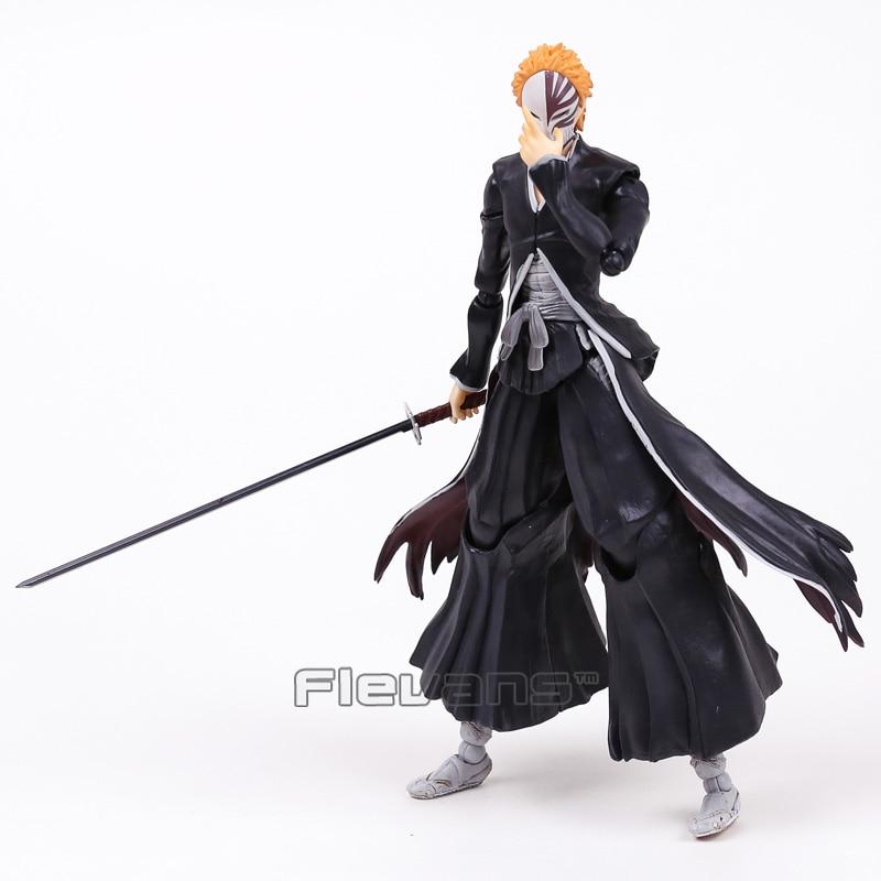 Play Arts Kai Anime BLEACH Ichigo Kurosaki PVC Action Figure Collectible Model Toy 26cm