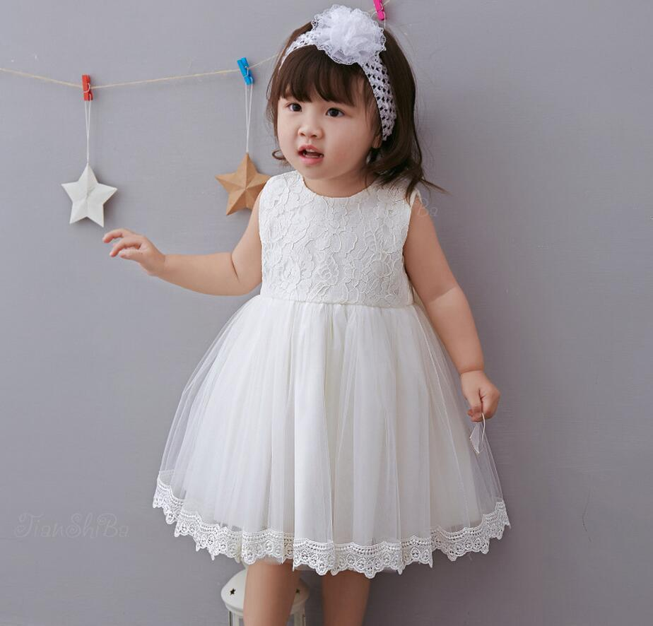 Red Pink Off White Bowknots Embroidered Trim Baby Girl Christening Dress Princess Wedding Party Newborn Baptism Gown