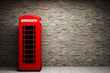 Laeacco Telephone Booth City Buildings Scenic Photography Background Customized Photographic Backdrops For Photo Studio