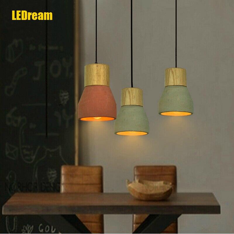 ФОТО Nordic droplight, creative personality lamp LOFT restaurant three head lamp droplight bar coffee shop cement droplight