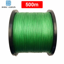 Easy Catch 500m 546 Yards 100% PE Braided Fishing Line Green 4 Strands Braid Multifilament Super Strong Fishing Lines 10LB-45LB
