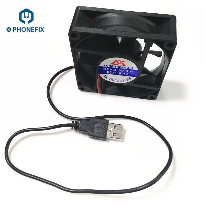 PHONEFIX Mini Exhaust Fan USB Smoke Extractor Solder Iron Fume Exhaustor Air Filter Motherboard Welding Repair Tool