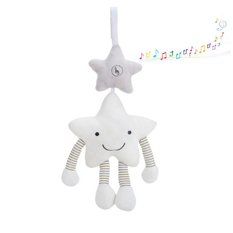 New Stroller Music Star Crib Hanging Baby Toys Newborn Mobile Rattles On The Bed Babies Educational Plush Toys