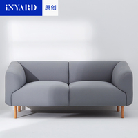 InYard Original Single And Double Sofa Foreign Design Minimalist Imported Cloth And Modern Nordic Wood