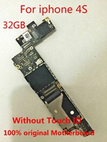 H shirley Original Motherboard for the Apple iPhone 4S 32gb 100% working and unlocked Logic board Without Touch ID+gift
