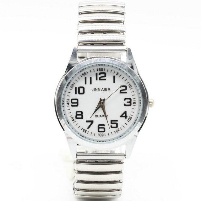 Fashion women dress watches stainless Steel Elastic band Quartz Watch Lovers vin