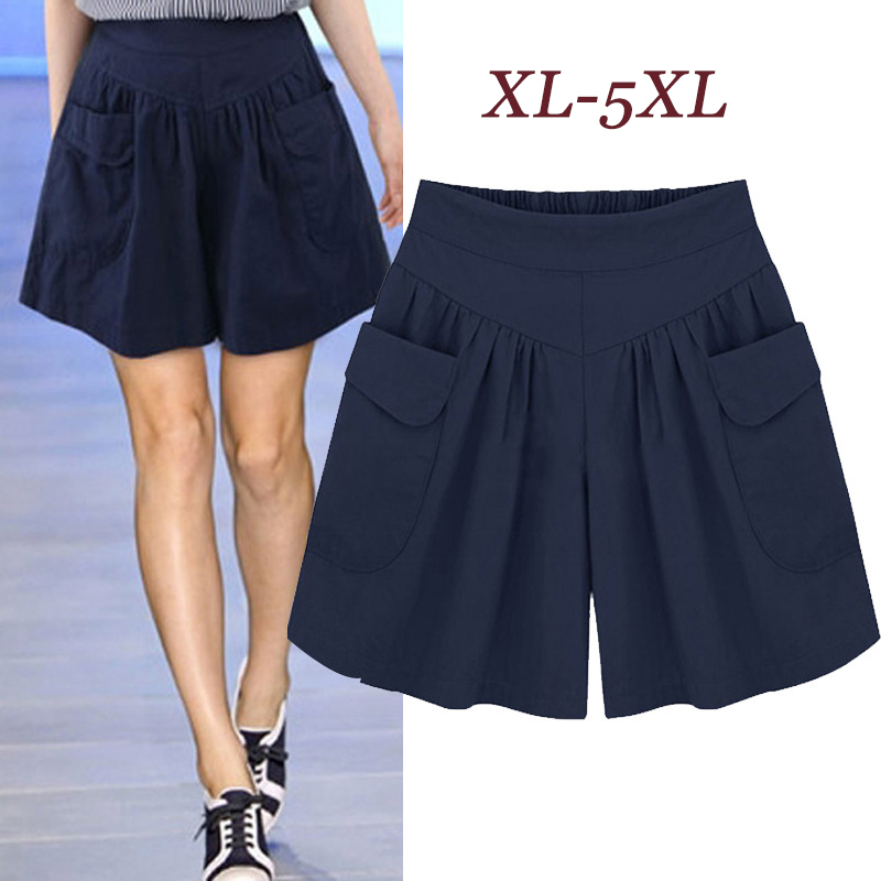 European American New Fashion Summer Womens Casual Shorts Large Size Shorts XL-5XL Comfortable Breathable Shorts 110Kg