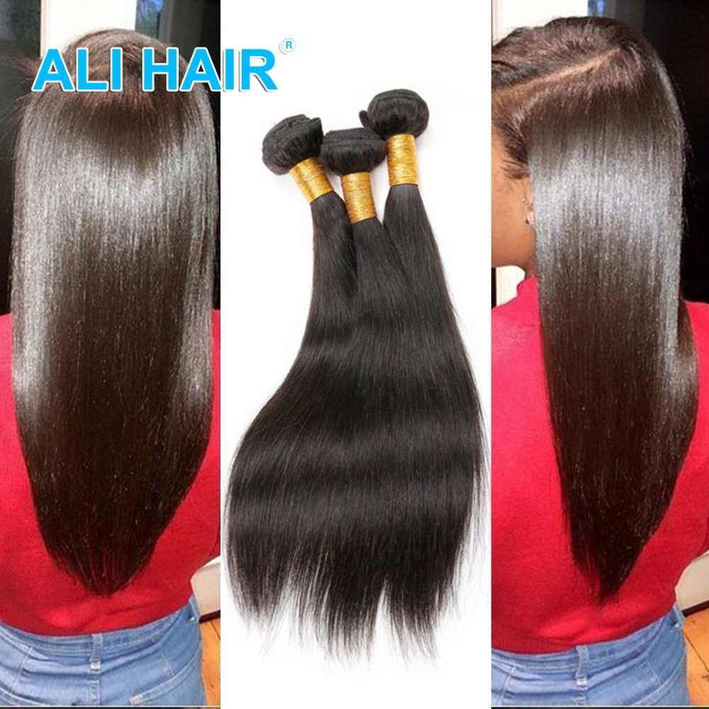 Straight hair perm products - 3 Bundle Peruvian Virgin Hair Straight Human Hair Weaves Ali Product Peruvian Straight Hair Weave Natural