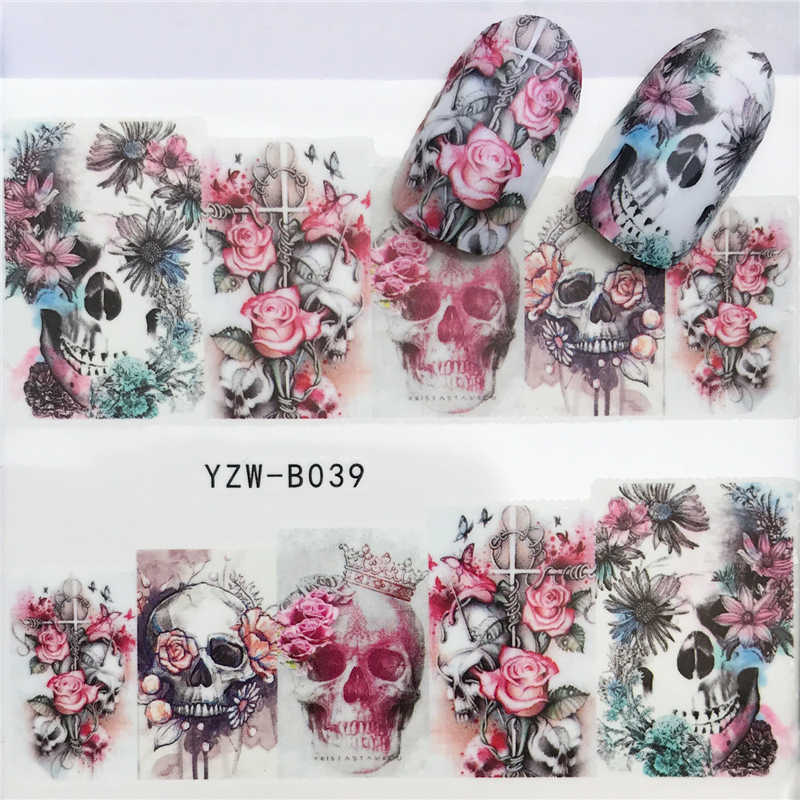 FWC 1 Sheet Cute Cartoon Cat Nail Sticker Water Transfer French Tips Manicure Pedicure DIY Watermark
