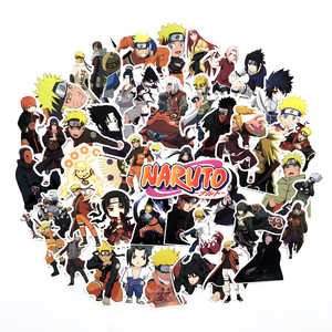 63Pcs/lot Japan Anime Naruto Sasuke Cartoon For Snowboard Laptop Luggage Fridge Car- Styling Vinyl Decal Home Decor Stickers F5