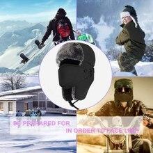 Новые зимние Для мужчин бомбер Шапки Для мужчин на меху, теплая зимняя женская обувь, утепленные ушами зимней Шапки для мужской моды куртка Бомбер шапка с наушниками шапки F3