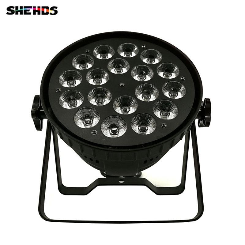Led par 18x15 W rgbwa 5in1 led par can par LED DMX etapa luces lavado iluminación etapa para DJ disco KTV aleación de aluminio