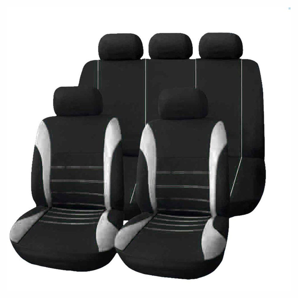 New KA 09 on Black frontront Waterproof Nylon Car Seat Covers Protectors
