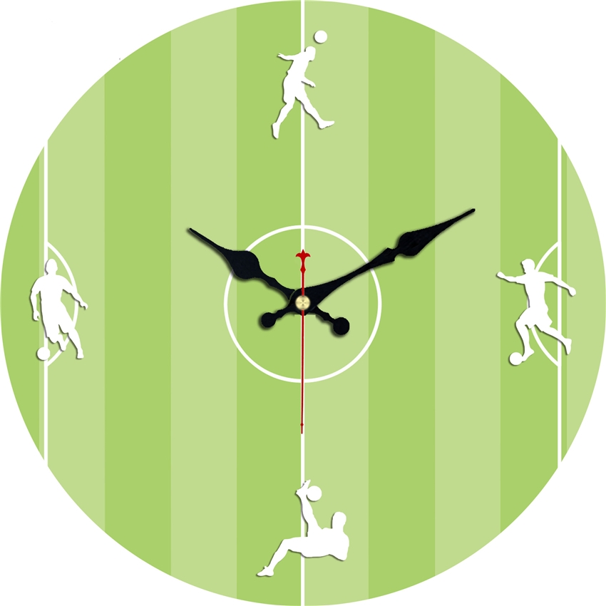 Vintage Football Design Wall Clock Silent Brief Living Room Office Home Decor Large Wall Art Clocks Duvar Saati No Ticking Sound