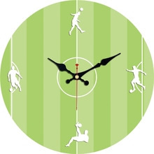 Vintage Football Design Wall Clock Silent Brief Living Room Office Home Decor Large Wall Art Clocks Duvar Saati No Ticking Sound стоимость