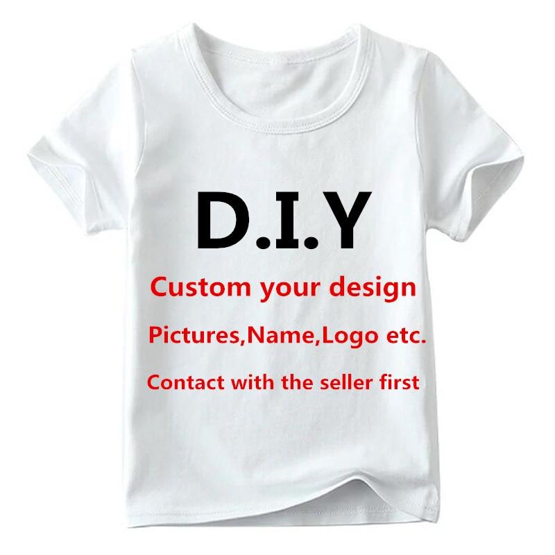 Детская футболка с индивидуальным принтом, Детская футболка с вашим собственным дизайном, одежда для мальчиков и девочек «сделай сам», снач...