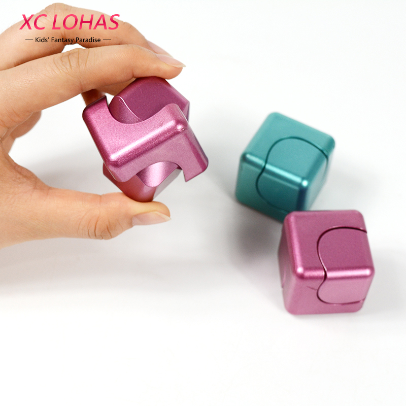 3 Colors Funny Fidget Cube Spinner Adult Anti Stress Toys Spin Puzzle Magic Cube Finger Toys