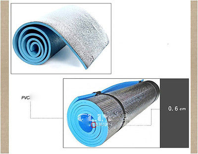 BLUE Thick Rug Pad For Exercise Fitness And Yoga Thick Aluminum Film Yoga  Rug For Yoga