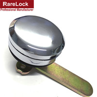 Rarelock Round Bright Chrome Zinc Alloy Key Alike Simple Locker Furniture,Showcase,Cabinet,Box Lock Cerradura g