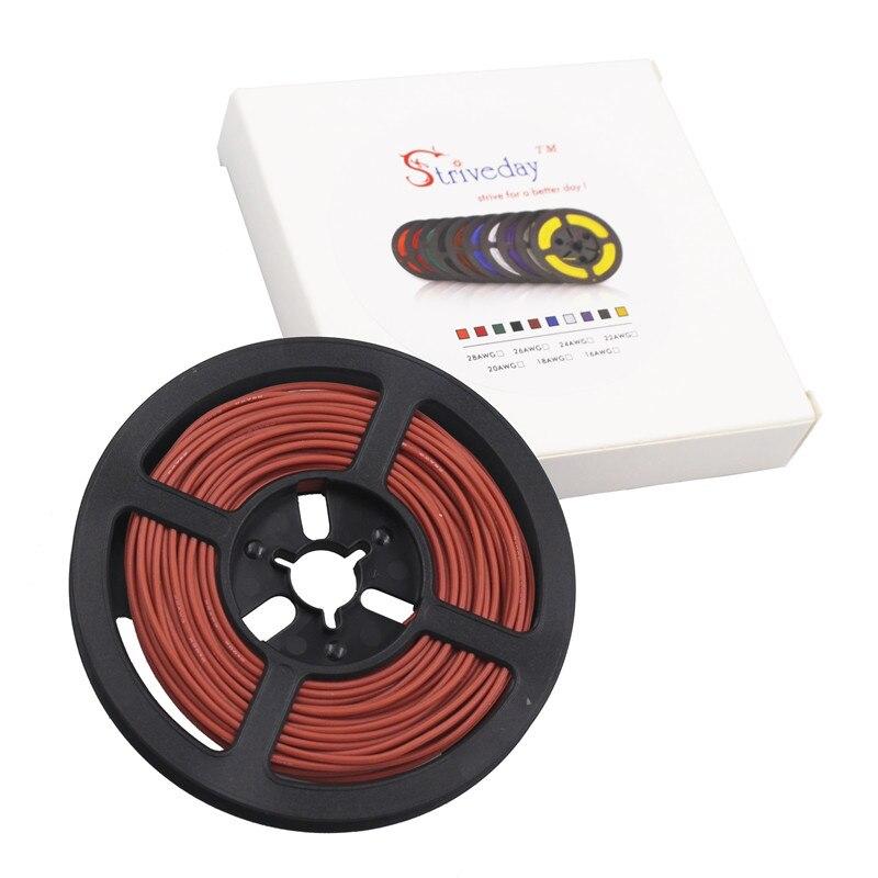 20 м 65,5 фута 20 AWG гибкий силиконовый провод луженая медная проволока и кабель многожильный провод 10 цветов на выбор DIY провода подключения