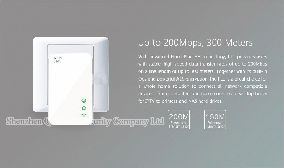 13-UKEUCN Broadlink DNA 200M Wireless WIFI Router Powerline Carrier Extend Wireless Smart Router WIFI Range Extender Automation