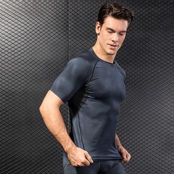Man's T-shirt Sports men's tank top T-Shirts Upper Garment Trainning and Exercise 3D T Shirt  Sportswear Gym Rashgard male Sport 1