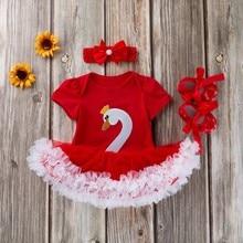 Baby Girl Swan Princess Tutu Dress Outfit Set