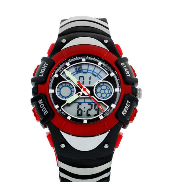 Estudantes Favorito Multi-funcional 3-ponteiros Analógicos Relógios Desportivos Cronógrafo Luminosa relógio de Pulso de Borracha Relógio Digital NW770