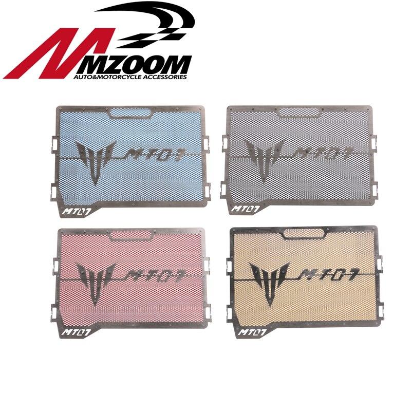 Motorcycle radiator grille protection cover for yamaha mt-07 fz-07 mt07 fz07 2014 2015 2016 2017 waase radiator protective cover grill guard grille protector for yamaha mt 07 mt07 fz 07 fz07 2013 2014 2015 2016