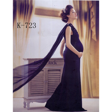 2015 New Maternity Photography Props Clothes For Pregnant Women Dress Pregnancy Clothing Photo Portrait The Blue