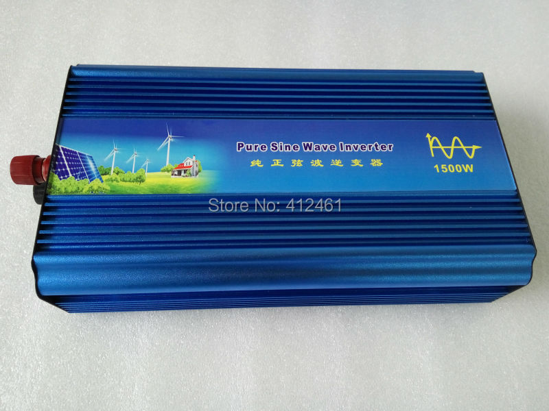 DHL Fedex free shipping digital display 1500W Pure Sine Wave Power Inverter Converter 12V DC to 220V AC 3000 Watt Peak