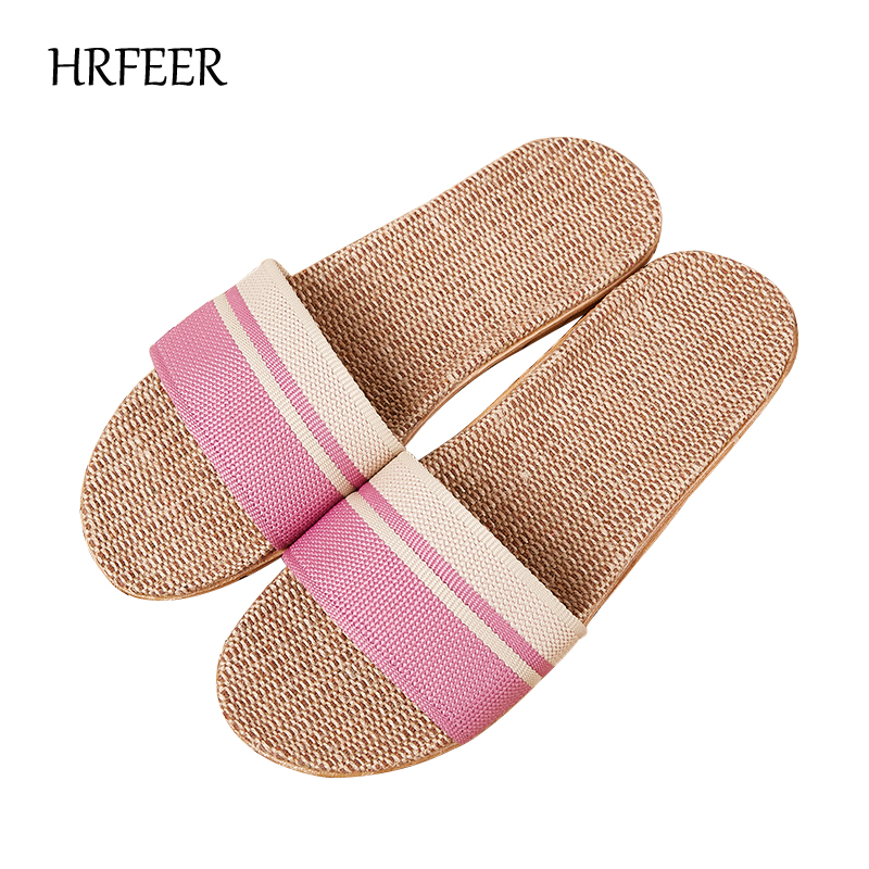 HRFEER Women Linen Slippers Flat Men Sandals Flax Unisex Health Shoes Lightweight EVA Non-Slip Slides Home Slipper 10 ColorsHRFEER Women Linen Slippers Flat Men Sandals Flax Unisex Health Shoes Lightweight EVA Non-Slip Slides Home Slipper 10 Colors