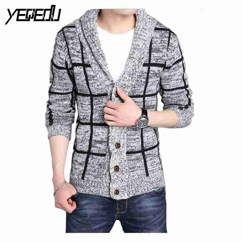 1331 2017 Winter sweter hombre Knitting patterns mens sweaters Cardigan masculino Pull homme Thick Cardigan