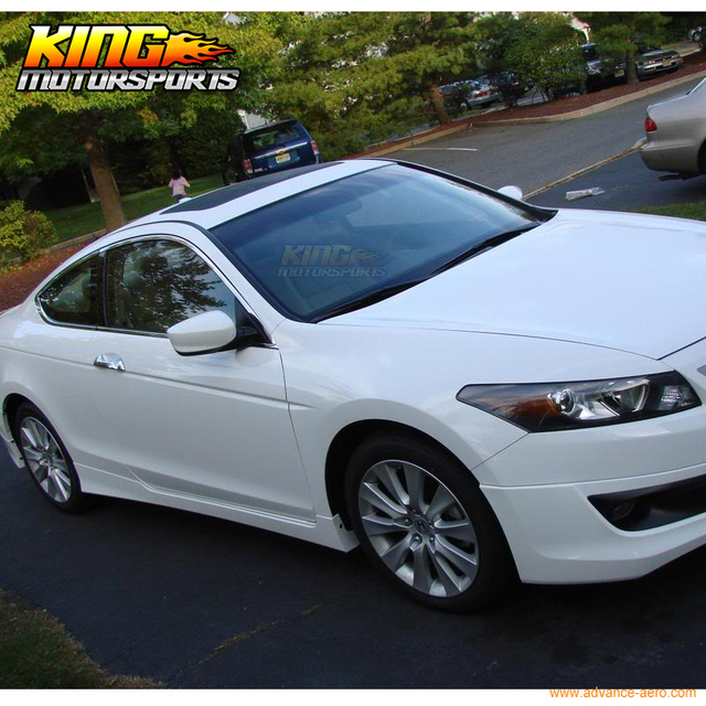 For 08 10 Honda Accord 2DR Coupe HFP Style Side Skirts Urethane