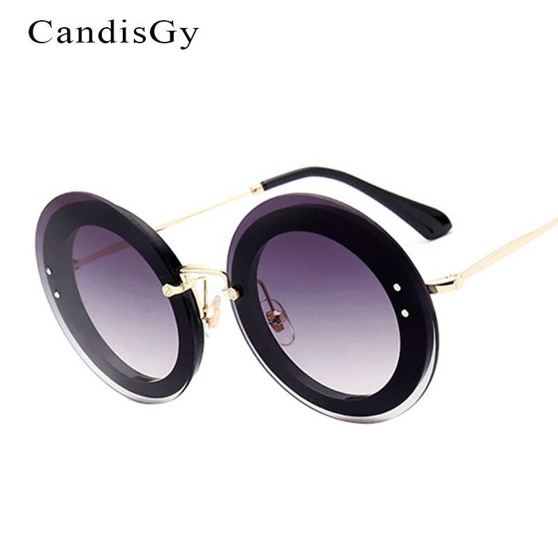 New Round Fashion Sunglasses Women Brand Designer Lady Female Sun glasses UV400 Rimless Photochromic