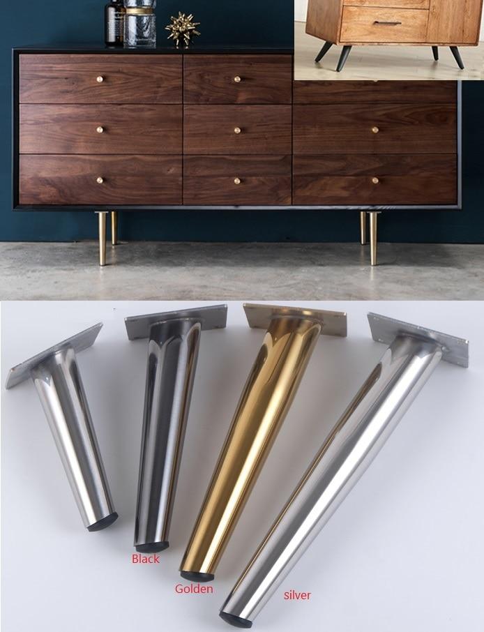 Sunny Hot Sale 4pcs 5 Chrome Metal Sofa Leg Furniture Leg Chairs Cabinet Wardrobe Mat Furniture Parts