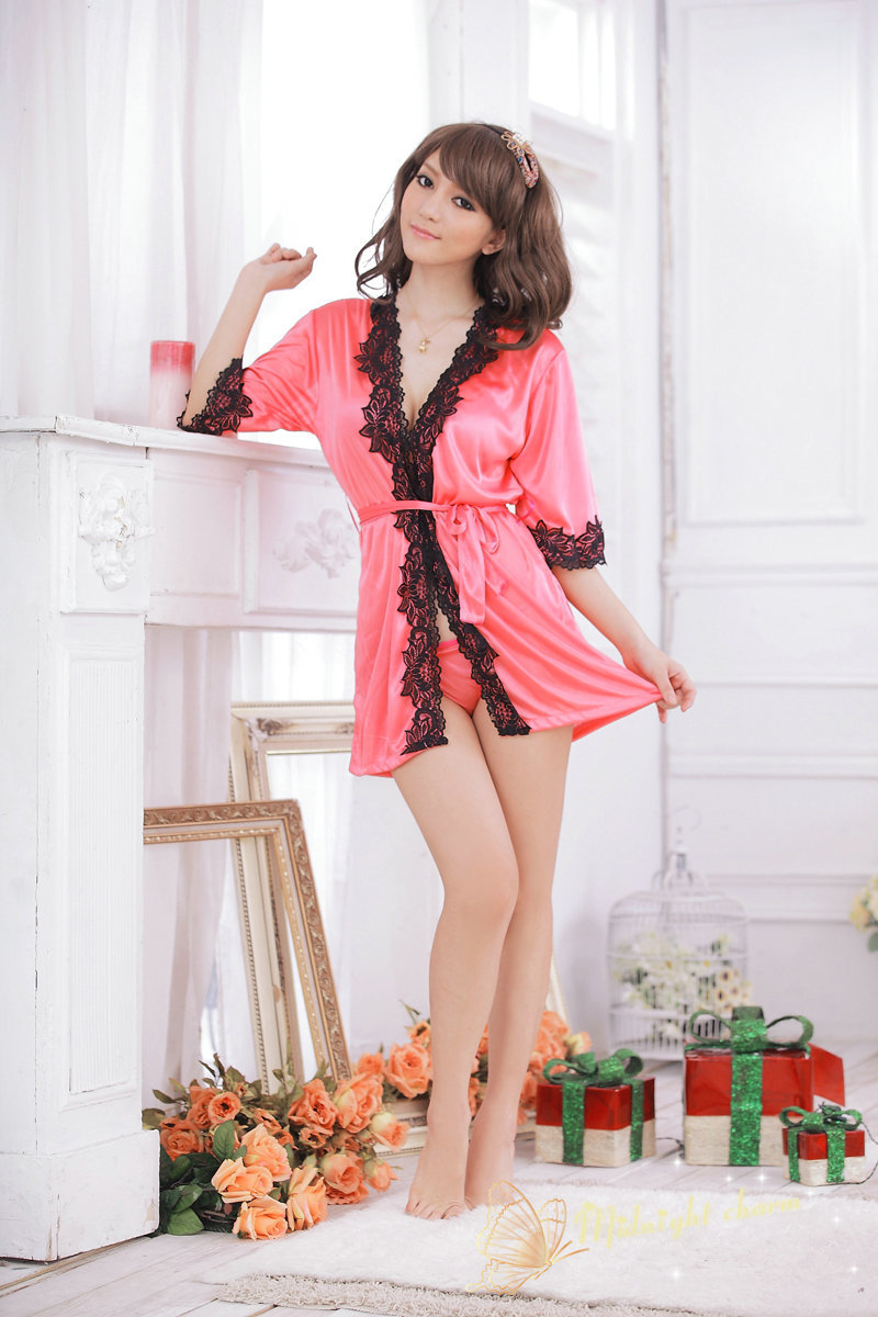 2015 Time-limited Direct Selling Bow Erotic Lingerie Nuisette Lingerie Liang Lixiu Sexy Home Furnishing Pajamas Bathrobe L7040